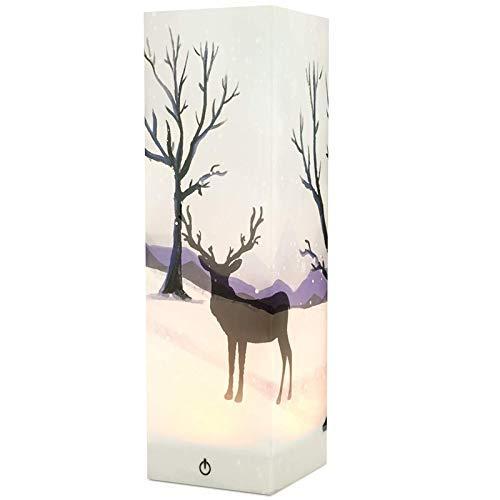 Allamp Norte de Europa Lámparas LED Luces de la noche de noche Noche de Prensa de la lámpara del sensor de imágenes 3D lámpara de mesa Decoración de Dormitorio Sala de la batería o el regalo Powered.C
