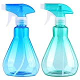 Airabc 2 Pieces Mist Spray Bottles 500ml Empty Plastic Bottles Durable Trigger Sprayer for Cleaning, Gardening, Feeding, Air Freshening, Kitchen, Bath, Water, Essential Oil(Blue+Green)