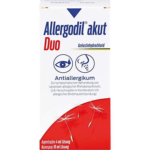 Allergodil akut duo Augentropfen und Nasenspray, 1 St. Kombipackung