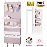JAY-Chi Over The Door Organizer Closet Bathroom Baby Nursery Hanging Organizer and Storage Larger Pockets Perspective Window Washable Oxford Fabric Wall Mount Rack for Diaper,Cloth,Toys(Grey)