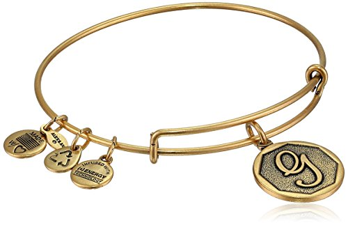 Alex and Ani Rafaelian Gold-Tone Initial 'G' Expandable Wire Bangle Bracelet, 2.5'