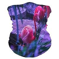 レッドアートスワンクレーンマスク用ポケット付きアウトドアボーイズガールズアダルト用フェイスプロテクションマスクバンダナUV防塵スカーフ