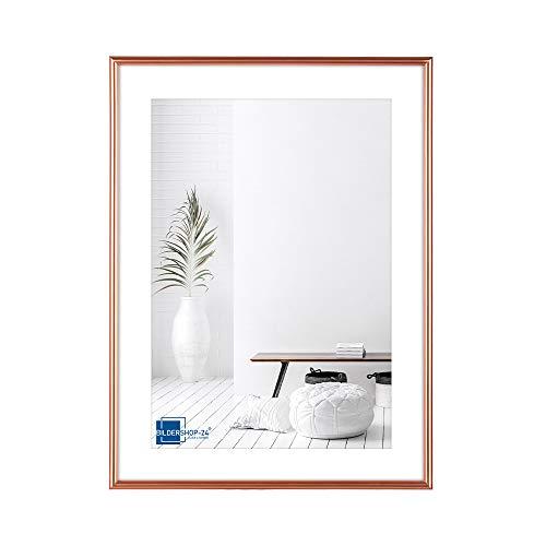 Bildershop-24 Kunststoffrahmen modern Bilderrahmen, (13 X 18 cm) Rosegold, inkl. Tischaufsteller