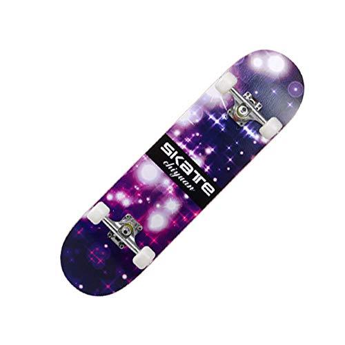 YSCYLY Mini Skateboard Retro Cruiser,Skateboarding Brush Street 80 * 20cm,Geburtstagsgeschenk FüR Teenager Und Erwachsene