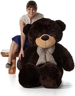 Giant Teddy 5 Foot Life Size Teddy Bear Huge Stuffed Animal Toy Huggable Cute Cuddles Bear (Chocolate Brown)