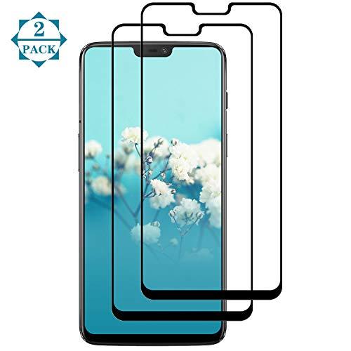 CUOTUO für OnePlus 6 Panzerglas,OnePlus 6 Schutzfolie [2 Stück] [Full Screen] [9H Härte] [Ultra-klar] [Anti-Kratzen] Panzerglas Schutzfolie für OnePlus 6