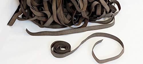 Adjustable Straps. Hooks. Elastic Stretchy Band Wig making. Lace Wig Cap. Elastic tape. Bra straps (Brown 1 yard)