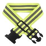 AVANA Reflektor Gürtel Reflektorgurt Reflektierender Sicherheitsgürtel Hohe Sichtbarkeit Reflektoren Gurt Reflektorband Reflexgurt Laufen Joggen Fahrradfahren Reflektorgürtel - Gelb