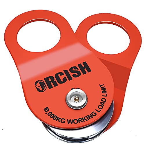 ORCISH 10T Snatch Block for Recovery Winch Towing Pulley Blocks Offroad Recovery Accessory22000lb Capacity(Orange)