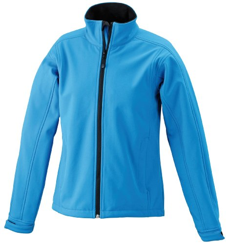 James & Nicholson Damen Jacke Softshelljacke blau (aqua) Large