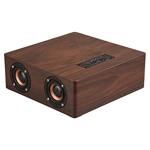 ZEIYUQI Altavoz Bluetooth AUX Sonido Envolvente de Alta Fidelidad,Altavoces Bluetooth 4.2 de Rango Completo de 12W,Se Puede Reproducir de Forma Continua Durante 8 Horas,Black