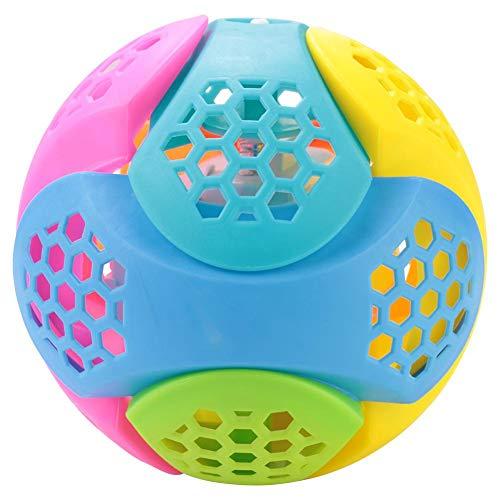 Bola de Baile, Juguete de Regalo Divertido ABS, música Ligera, Intermitente, Rebote con Seguridad de Color Brillante y Bola de Salto con luz LED no tóxica, para niños, niñas, niños al Aire