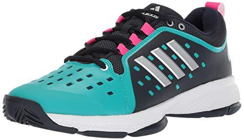 adidas Women's Barricade Classic Bounce Tennis Shoe, Legend Ink/Matte Silver/hi-res Aqua, 9 M US