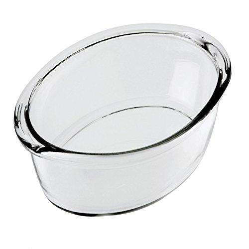 Bergner 2.5 L Fuente Oval con Tapa, 36 x 22,8 x 6,9 cm, 2,5 l, Cristal