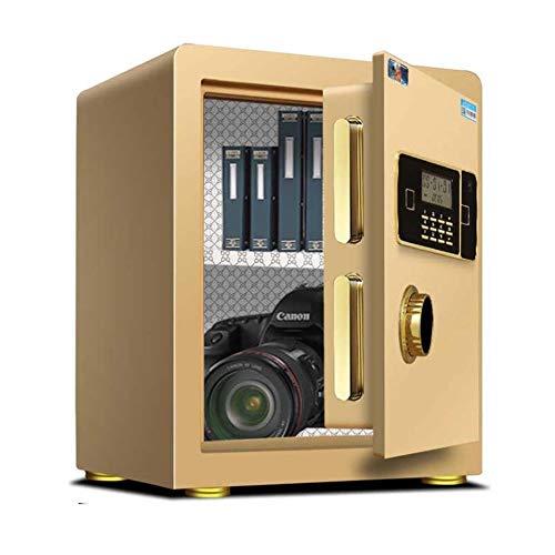 GGDJFN Safes Anti-Theft Fingerprint Unlock Cash Safety Box,Small Smart Home Appliances Cabinet Safes For ID Papers, A4 Documents, Laptop Computers, Jewels (Color : Gold, Size : Password unlock)