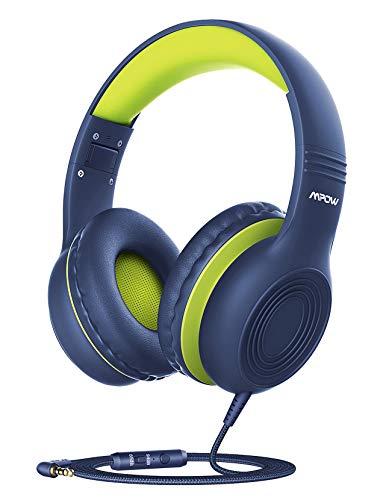 Cuffie per Bambini Mpow CH6S, con Limite di Volume 85dB and 94 dB e Microfono Stereo ad Alta Definizione, Funzione di Condivisione Della Musica Cuffie Bambino Musica Ear Auricolari