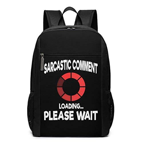 ZYWL Sarcastic Comment Loading Please Wait Laptop Backpack 17-Inch Travel Backpack Bookbag Bussiness Bag