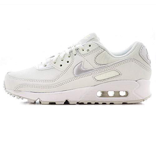 Nike Air MAX 90, Zapatillas Deportivas Mujer, Summit White Summit White Dark Beetroot, 37.5 EU