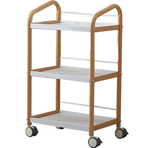 SuoANI Küchenwagen Rollwagen für Küche und Wohnzimmer,mit 3 Ablagen,Küchenwagen | Teewagen Anthrazit