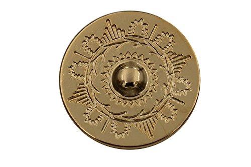 gold glänzend große Metall Knöpfe Metallknöpfe Ösenknöpfe flach 28mm 5 Stück