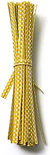 SHENYI Home and Jardin Nice 20pcs Polka Dot Twist Tey Sac d'emballage Beau Stockage (Color : Yellow)