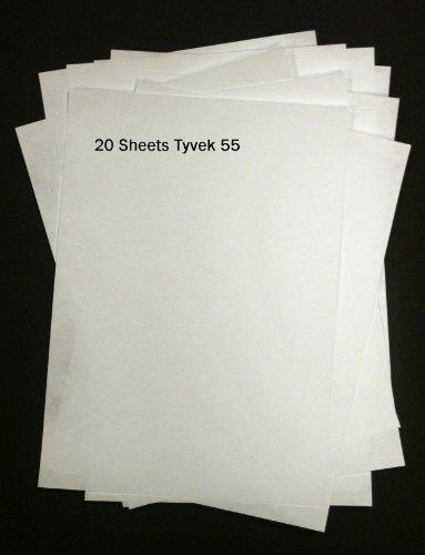 Tyvek, 20Stück A4-Puffer-Blätter, 55g/m²