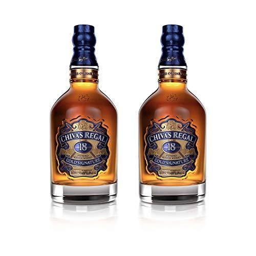 Chivas Regal 18 Jahre Blended Scotch Whisky 2er Set, Whiskey, Schnaps, Spirituose, Alkohol, Flasche, 40%, 2 x 700 ml