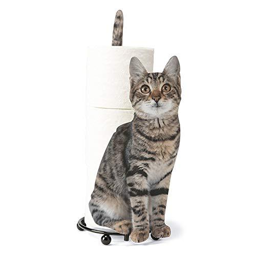 Xingying Portarrollos de papel higiénico con forma de gato, para baño, para los amantes de los gatos, decoración de tu casa, regalos para tus amigos y familiares