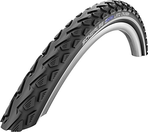 SCHWALBE Land Cruiser HS 450 Cruiser Bicycle Tire - Wire Bead - Black (Black - 700 x 35C)