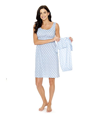 Baby Be Mine Maternity/Nursing Sleeveless Nightgown with Matching Baby Outfit