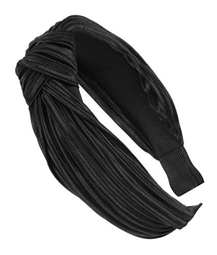 axy HR34a Haarreif mit leichtem Samt-Vintage-Wunderschön Haarschmuck (Schwarz)