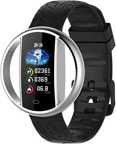 Gymqian Pulsera Inteligente Smart Watch Band Pulsera Tarifa Cardíaca Monitor de Dormir Gimnass Tracker Smart Watch Ip67 Impermeable para Android Ios-Sier Exquisito/Plata