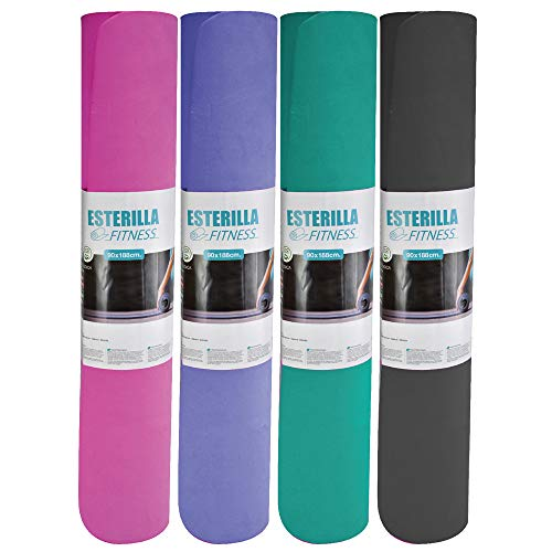 CELESTIAPRIX - Esterilla Alfombrilla para Yoga Pilates Ejercicio Deporte Antideslizante 188 cm x 90 cm Espesor 7mm (Blue)