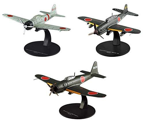 OPO 10 - Lote de 3 Aviones de Combate 1/72 Aichi + Mitsubishi (AC20 + G11 + G17)