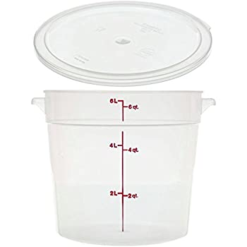 Cambro RFS6PP190 6 Qt Round Container Wirh RFSC6PP190 Translucent Lid