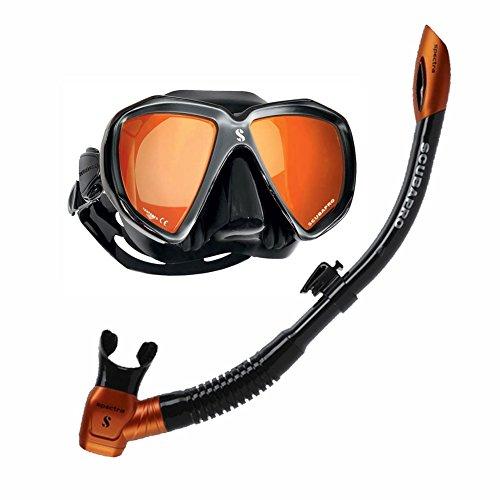 Spectra Set Taucherset Schnorchelset Maske Spectra und Schnorchel Spectra von Scubapro Bomota Bag (Schwarz/Verspiegelt)