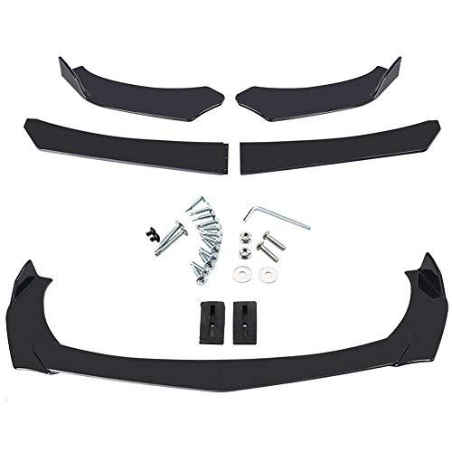 4 piezas de labio de parachoques delantero universal, kit de cuerpo divisor...