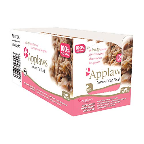 Applaws Katze Schale zarte Hühnchenbrust mit Reis, 10er Pack (10 x 60 g)