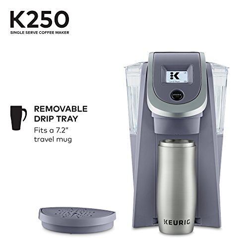 Keurig K250 Coffee Maker, Single Serve K-Cup Pod Coffee Brewer, With Strength Control, Plum Grey