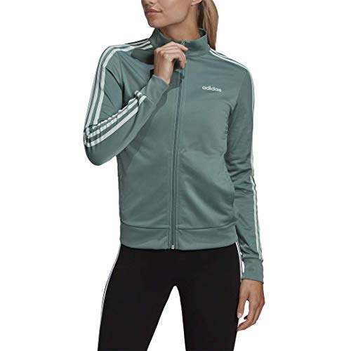 adidas Womens Essentials Long Sleeve Tricot Track Top Tech Emerald XS
