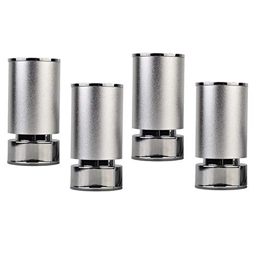 KISAD Patas de Muebles Patas de Mesa de Repuesto Pies de Muebles Aluminio Ajustable Mesa de Centro de TV de pie de TV Patas de Soporte de pie 6-22 cm (Juego de 4) (Size : 8cm)