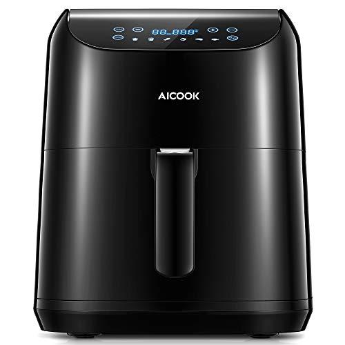 Aicook 5.5L Freidora sin Aceite (Gran Digital LED Panel), 1700W Freidora de Aire con 6 Programa, Temperatura y Tiempo Ajustable, Freidora Aire Caliente con Libro de Recetas, Regalo Ideal