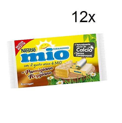 12x Nestlè Formaggino Mio Parmesan Parmigiano Käse Frischkäse reich Kalzium 125g