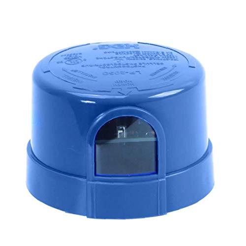 nJiaMe Fotocélula fotocélula Automóvil del Sensor Carrera con Bloqueo de JL-205C Twist, para un Alto Factor de Seguridad de Calle del LED Granero área de estacionamiento Light Blue