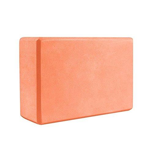 Ndier Yoga - Bloque de corcho ecológico para yoga y pilates (100% corcho), color naranja