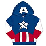 Marvel Boy's Captain America Fashion Hoodie, 100% Cotton, Blue, Size 3T