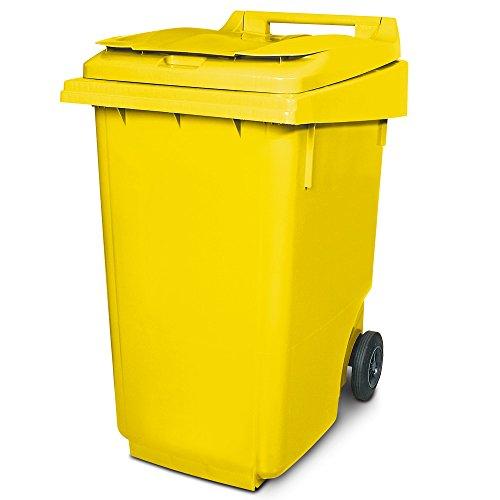 BRB 360 Liter DIN Mülltonne, HxBxT 1100 x 600 x 875 mm, gelb