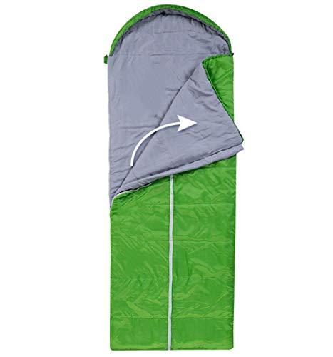 Sac de Couchage de Camping en Plein air épais épais Isolation Chaude Type Sac de Couchage rectangulaire, Vert à Droite Ouverte - 1,35 kg
