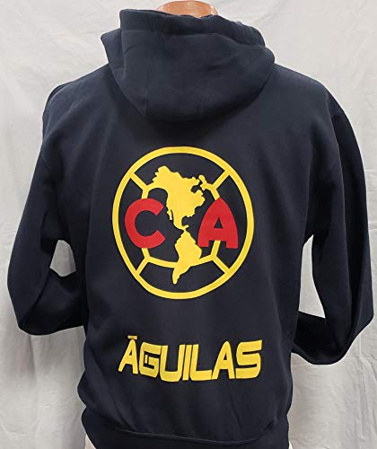 New Club Deportivo Aguilas del America Sudadera De Gorro Zip up Hoodie Size S