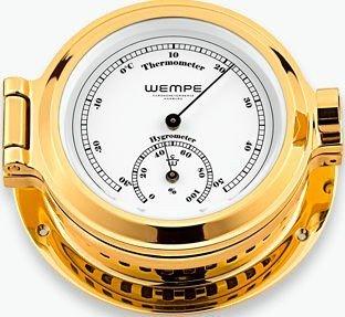 Hygro- / Thermometer Nautik Messing Ø 120mm - Thermometer Hygrometer by Wempe Chronometer